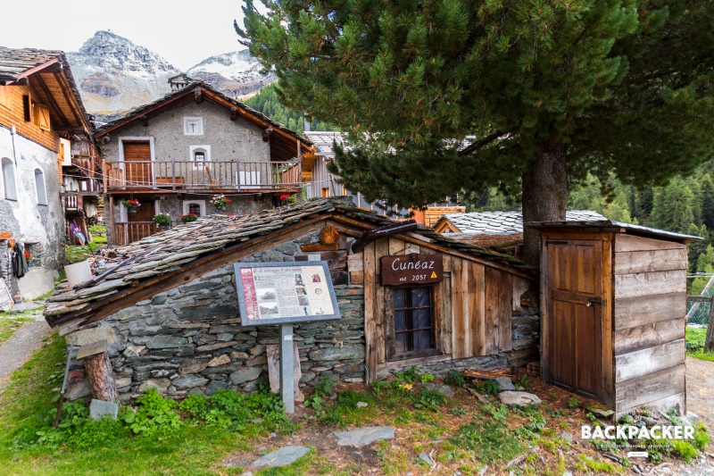 Ein touristisches Highlight aber keine Touristenattraktion – in Cunéaz wird das Walserleben versucht noch aufrecht zu halten.