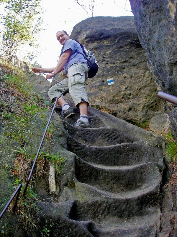 Aufstieg zu den Schrammsteinen