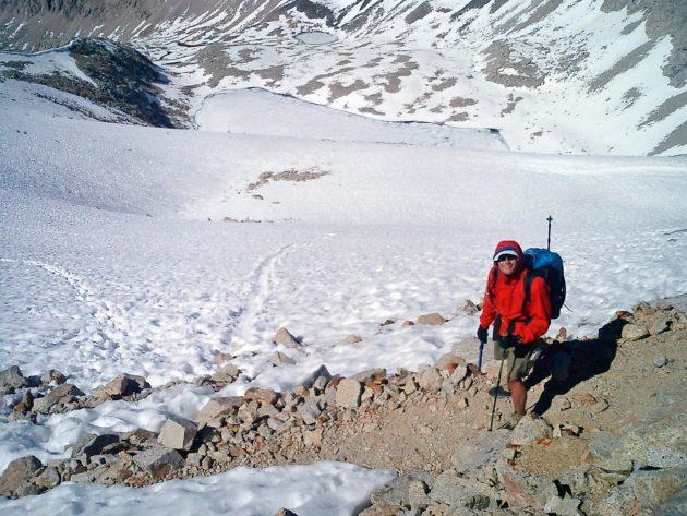 Die Aufstiegsroute auf der Südseite des Forester Pass ist Anfang Juni schon fast schneefrei. © Christine Thürmer, Malik Verlag