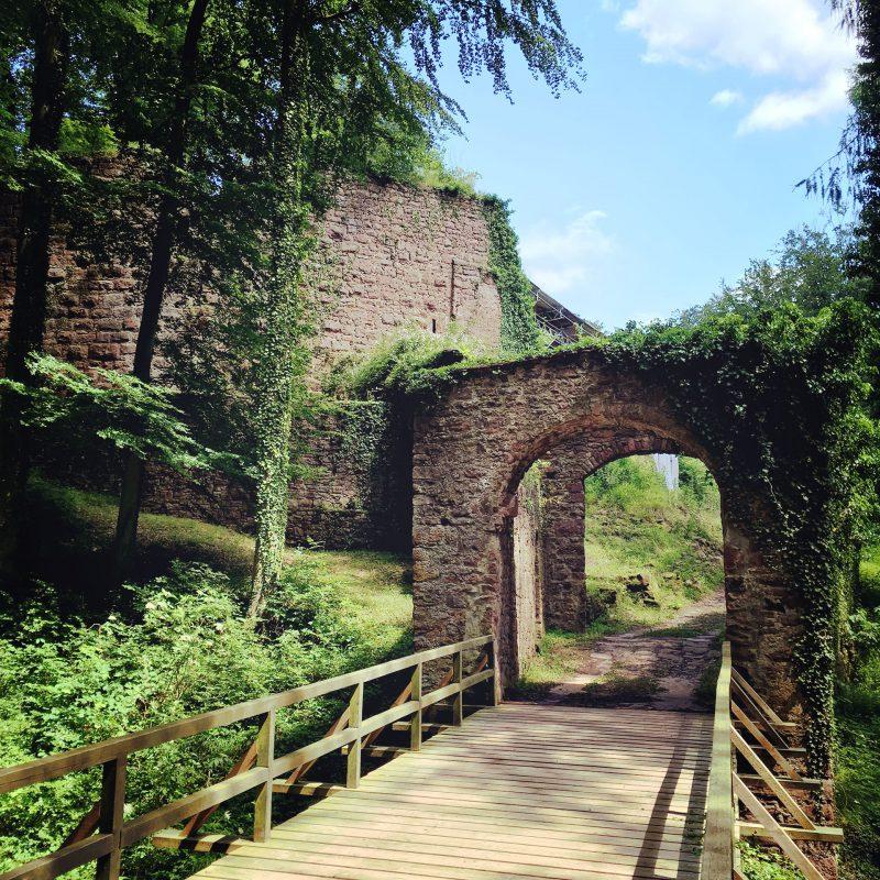 Eingang zur Burgruine Wildenstein