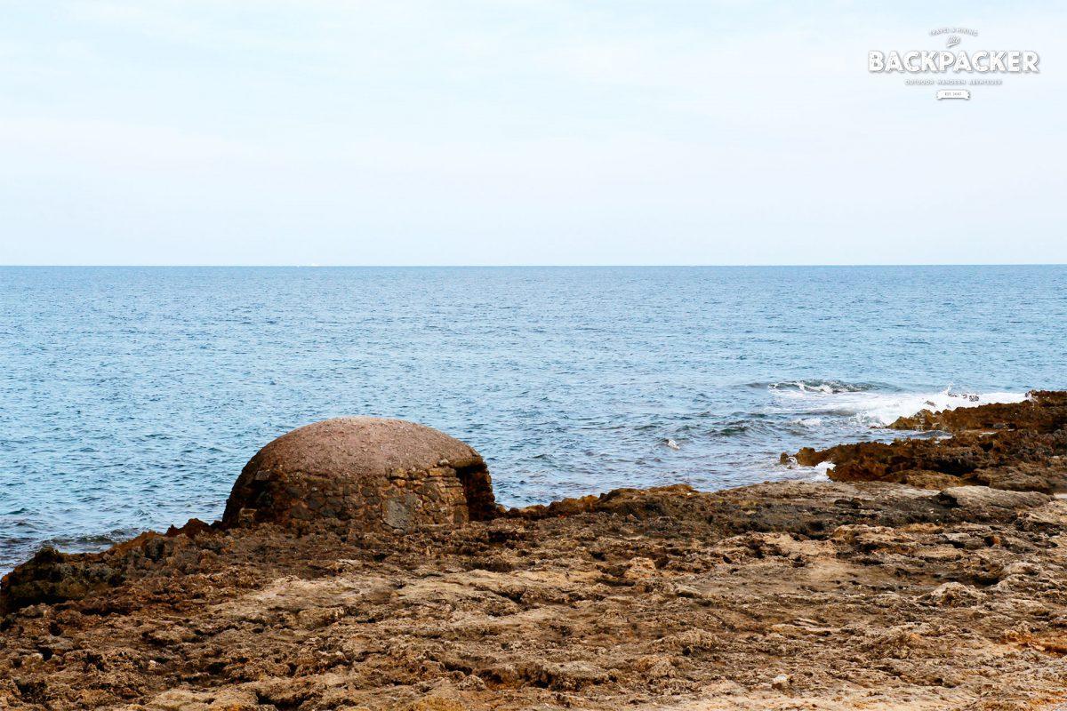 Bunker am Strand von Colònia de Sant Pere? Mitnichten.