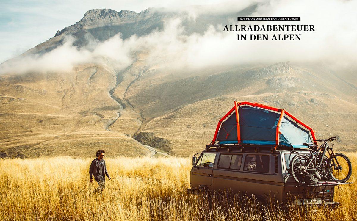 Auf abgelegenen Pisten auf der Suche nach neuen, nicht gekennzeichneten Bike-Trails, Volkswagen Typ 2 (T3) | © Gestalten Verlag