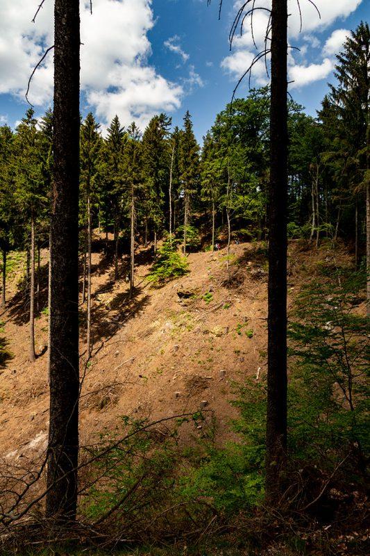 Wilde Schönheit und raue Bergwelt kurz vor Mezni Louka.
