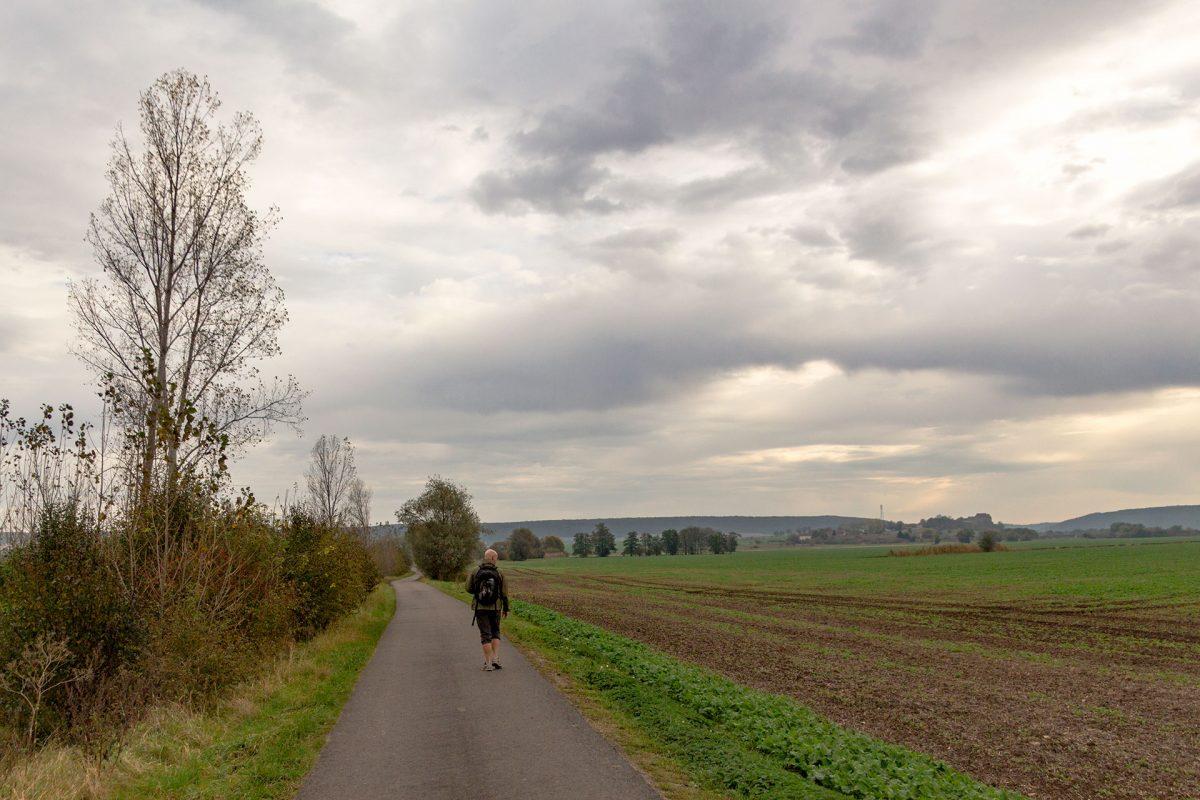 Zu viel Sonne verdirbt nur den Gesamteindruck. Daher wandern wir heute auch bei Wolken und leichten Schauern.