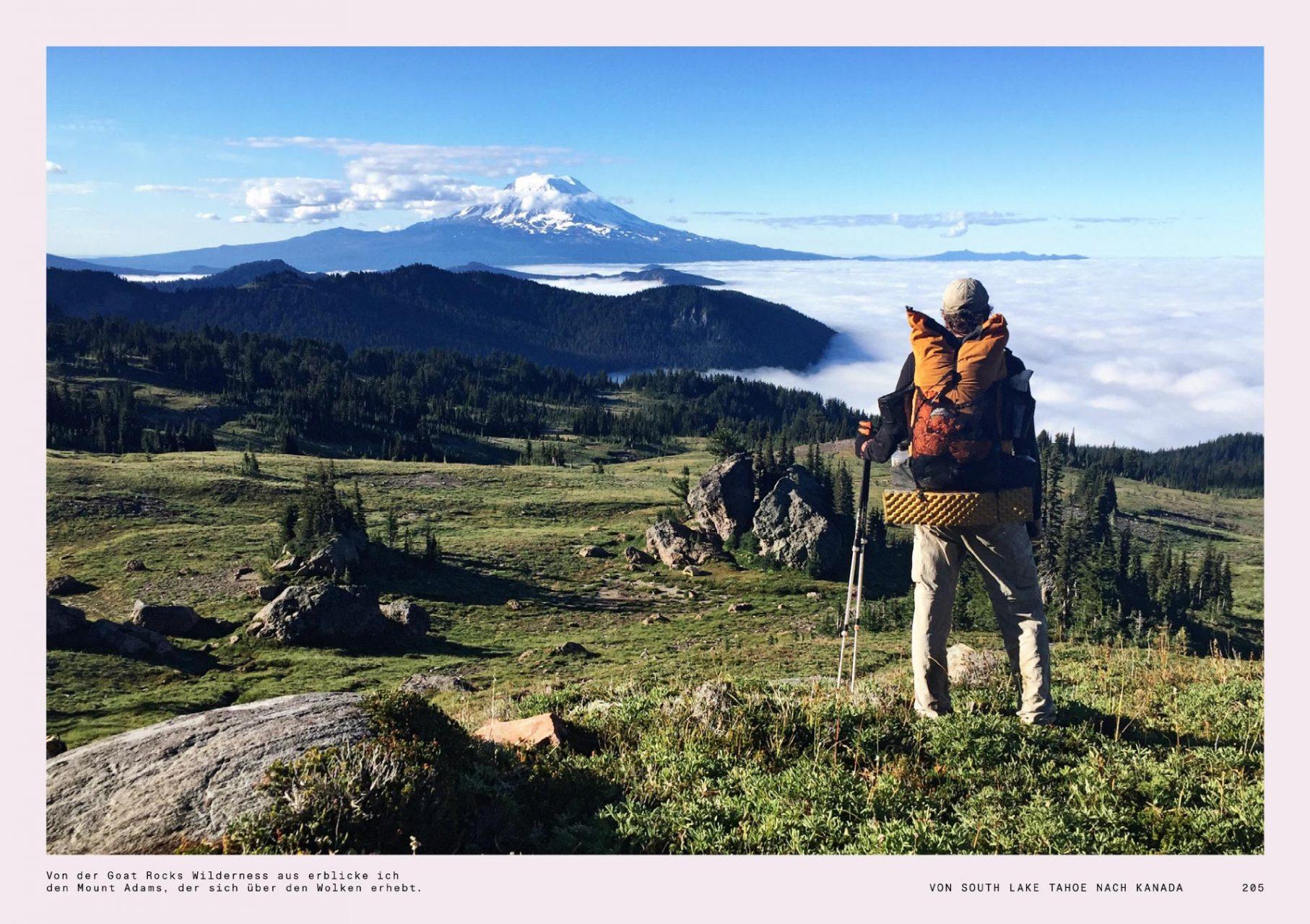 """Mount Adams am PCT, Doppelseite aus dem Buch """"Allein"""", erschienen im Gestalten Verlag, @gestalten"""