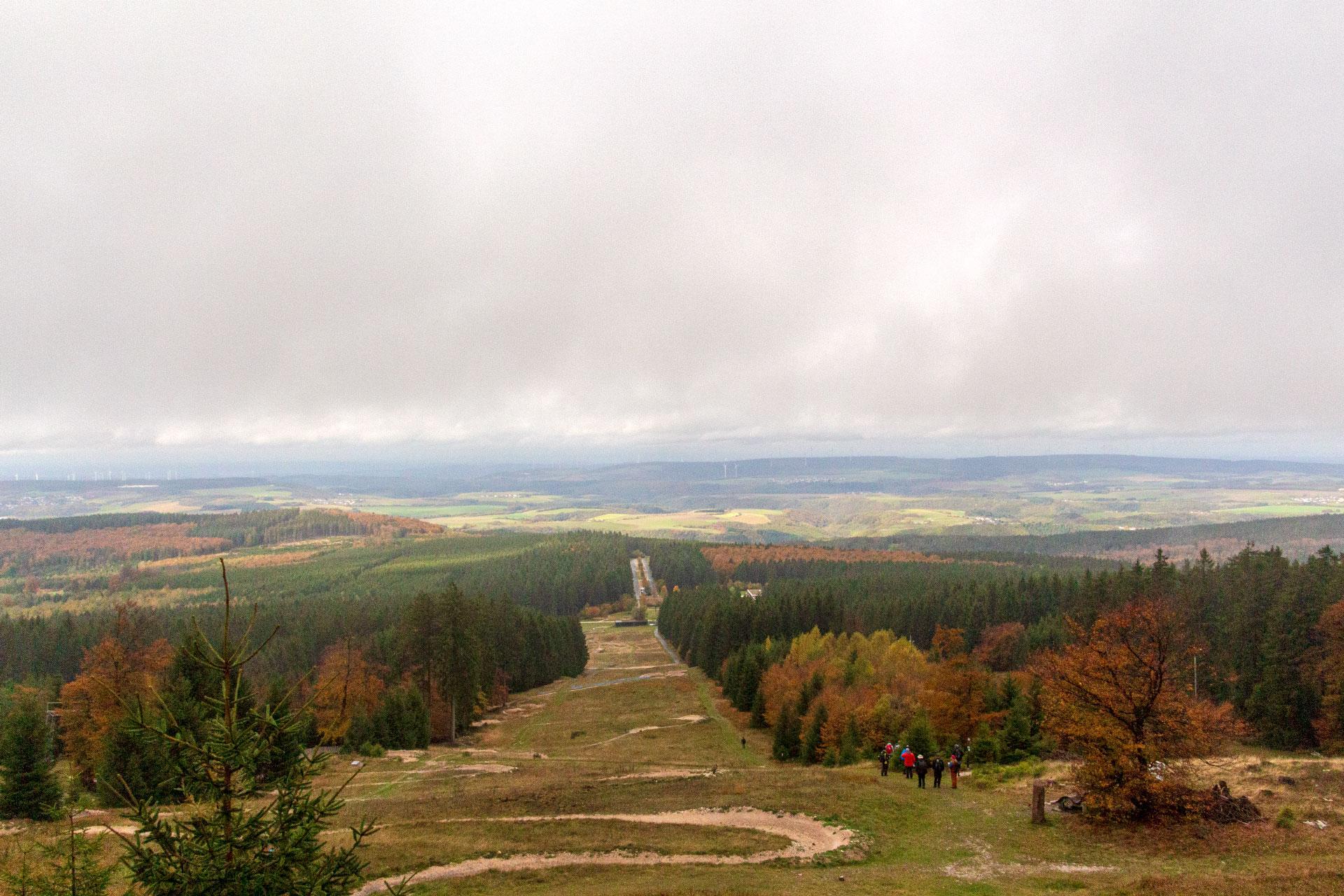 Höchster Berg der 10. Etappe vom Saar-Hunsrück-Steig: Erbeskopf (816m)