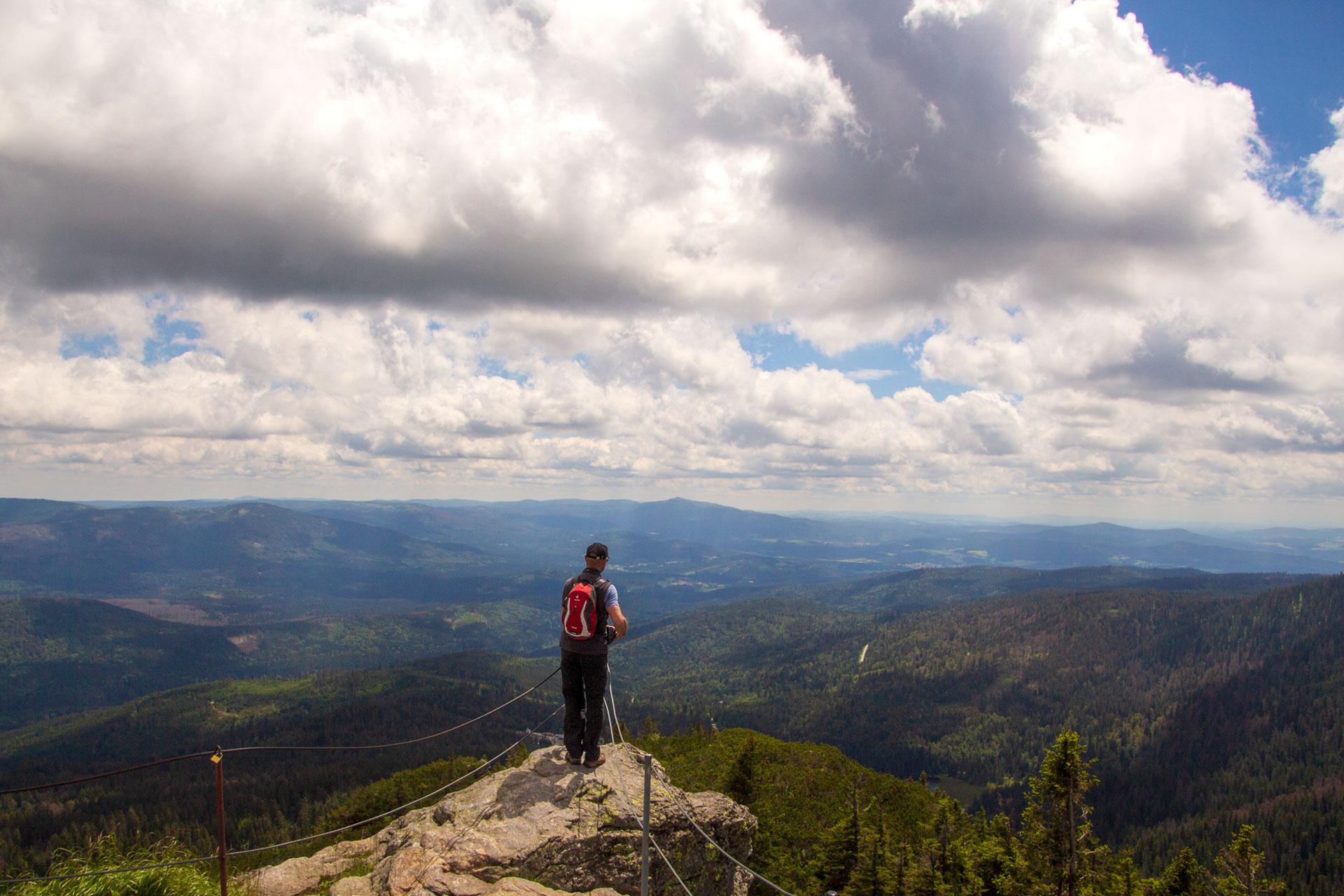 Blick vom Großen Arber in südliche Richtung