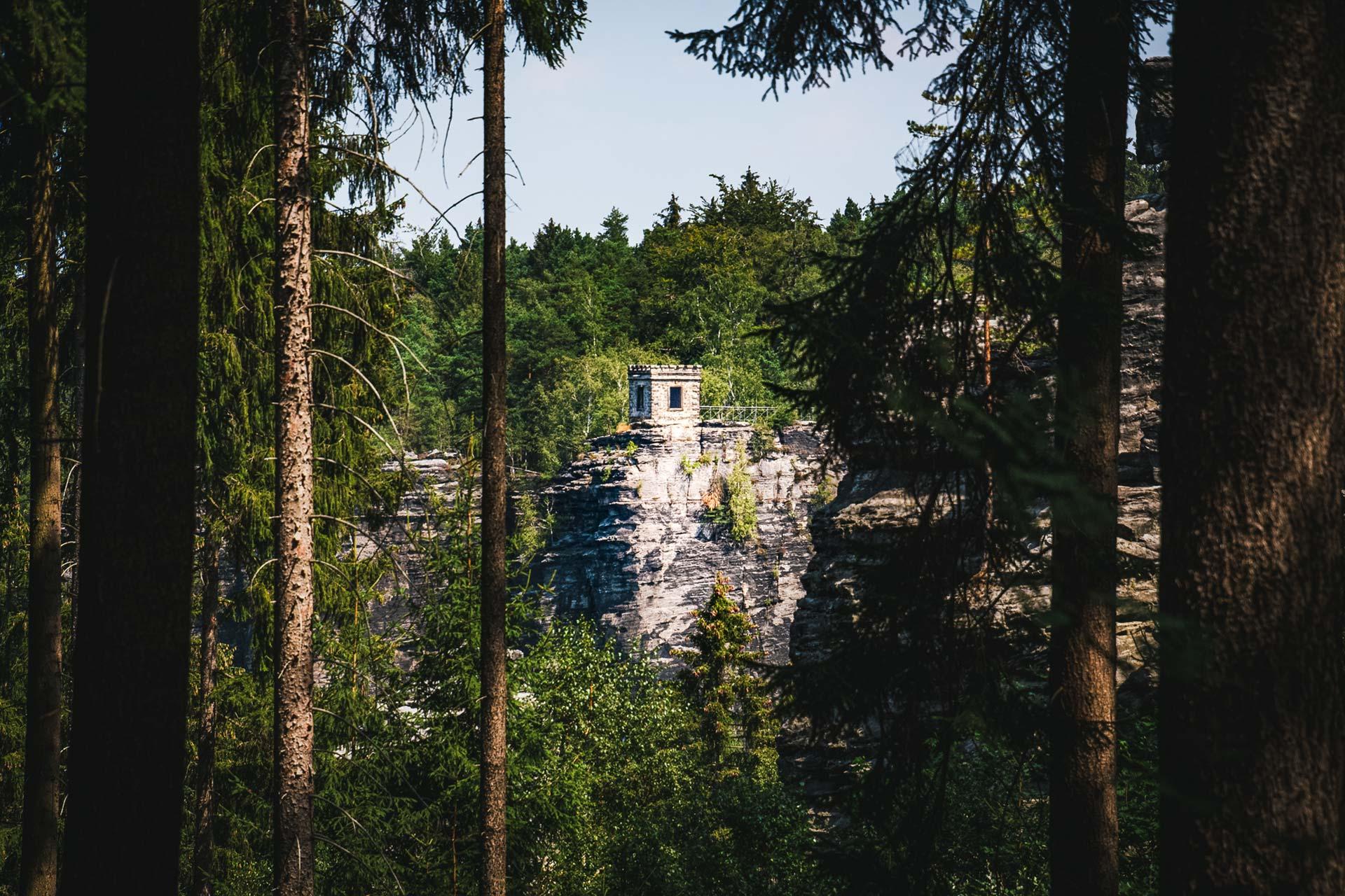 Zwischen Standort und Kaiser-Wilhelm-Feste liegt das Bielatal