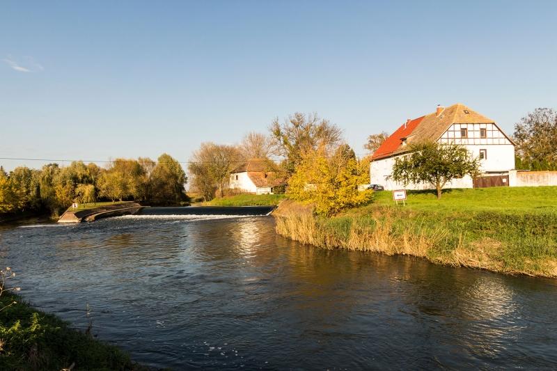 Zusammenflus der Unstrut und des Schleusenkanals bei Ritteburg