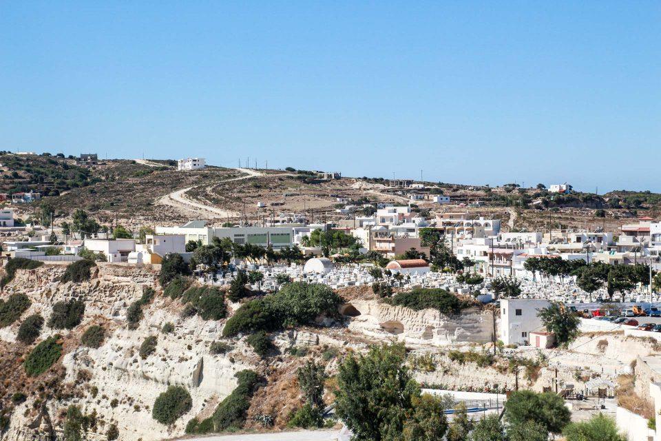 Auf dem Hochplateau von Kefalos liegt die namengebende Stadt.
