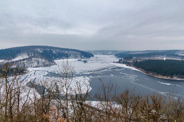 113,06 Millionen Kubikmeter Wasser fasst die Rappbodetalsperre und bildet damit den größten See des Harzes.