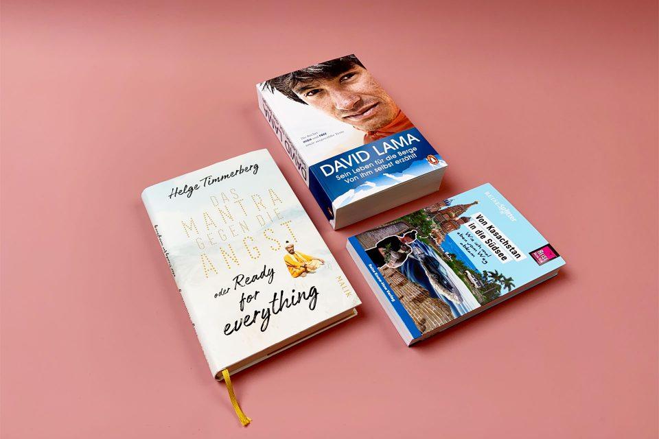 David Lama, Katharina Bahn und Helge Timmerberg – Bücher zum Lesen, Träumen und Verlieben