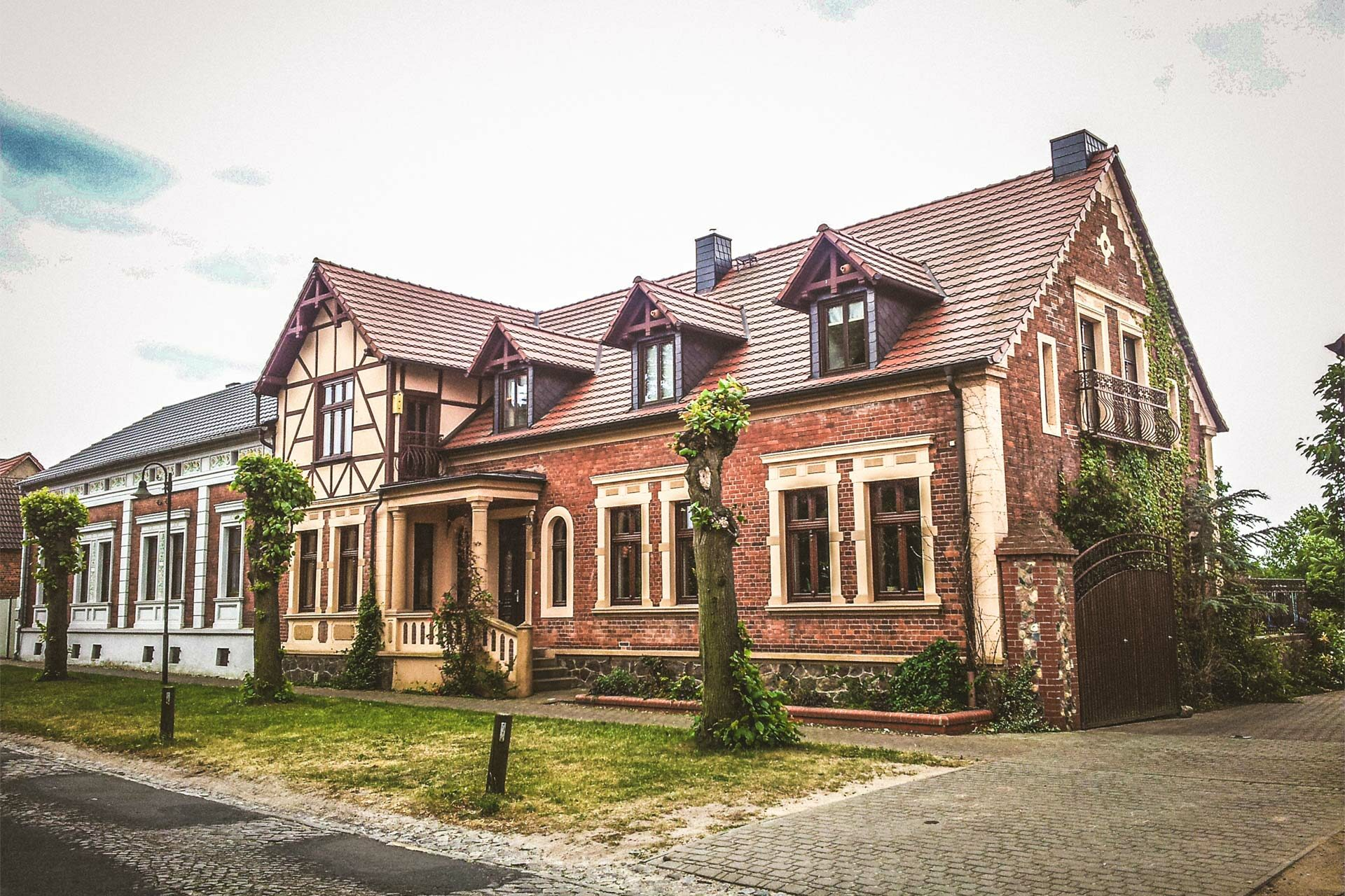 Ein besonders schönes Haus in Uetz. Reiche Bauern gab es überall.