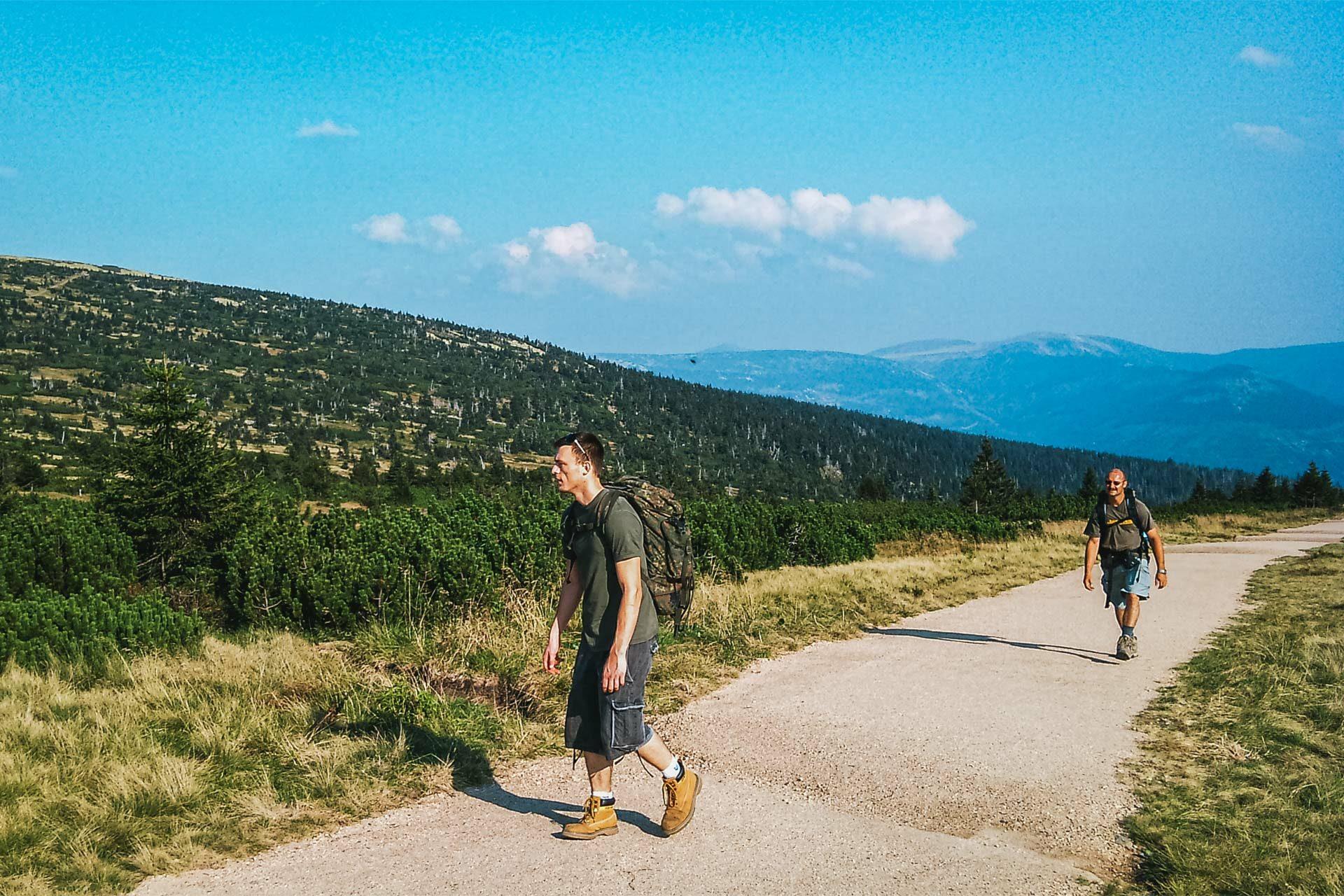 Die letzten Kilometer bis zur Elbquelle auf 1.400 Höhenmetern gelegen.