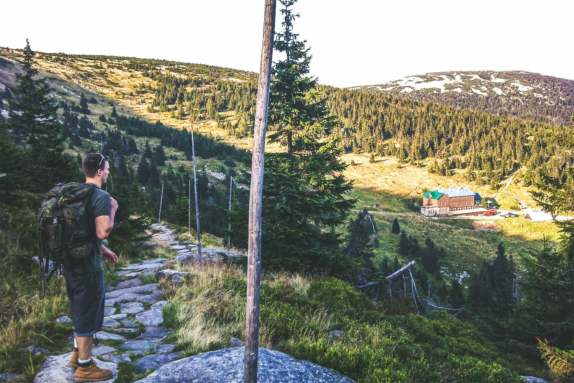 Ziel nach 19 Kilometern und mehr als 600 Höhenmeter: die Martinova Bouda, Martinsbaude.