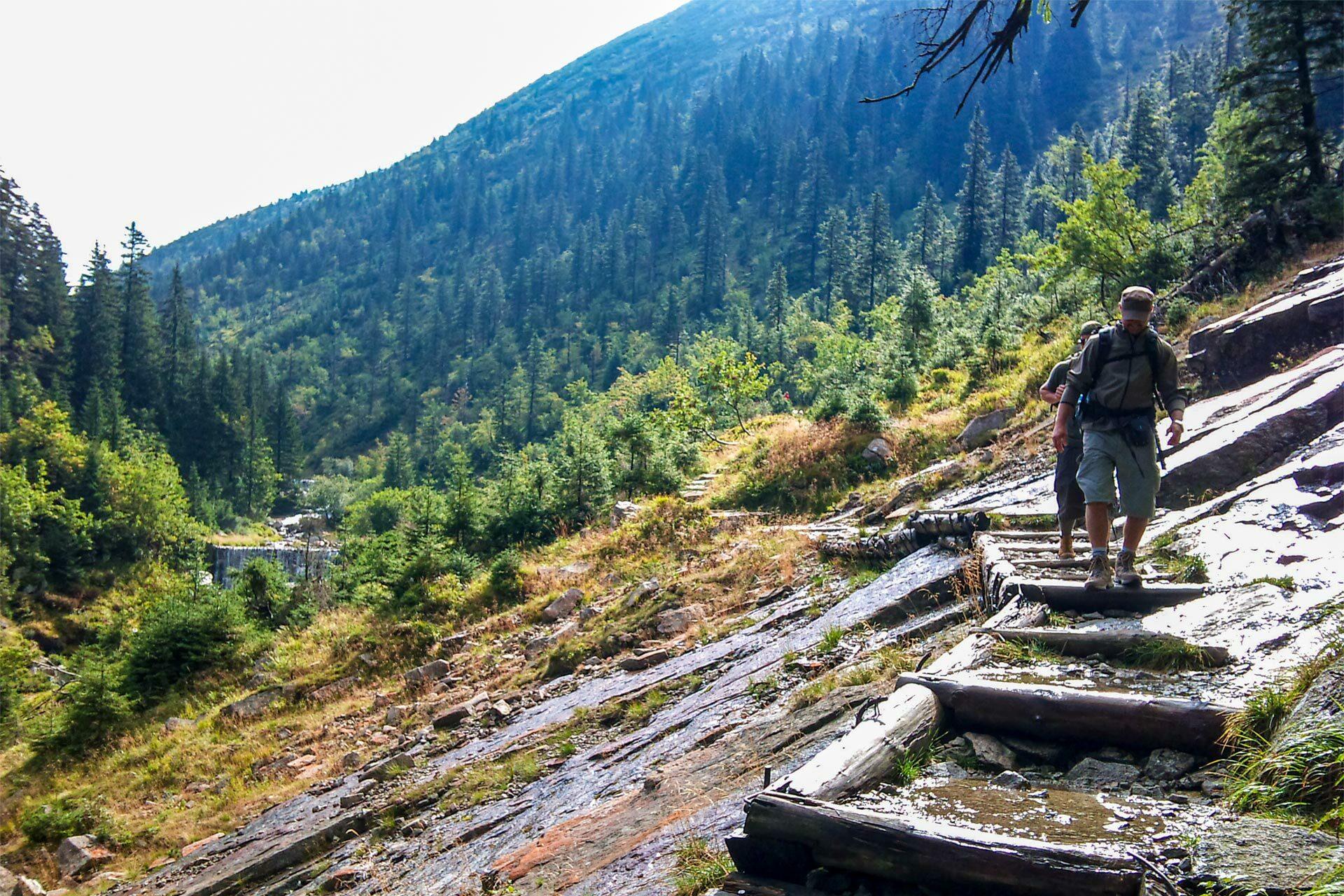 Über Stock und Stein, ein kleines Liedchen auf den Lippen, ja das ist das Leben eines Wandersmanns.