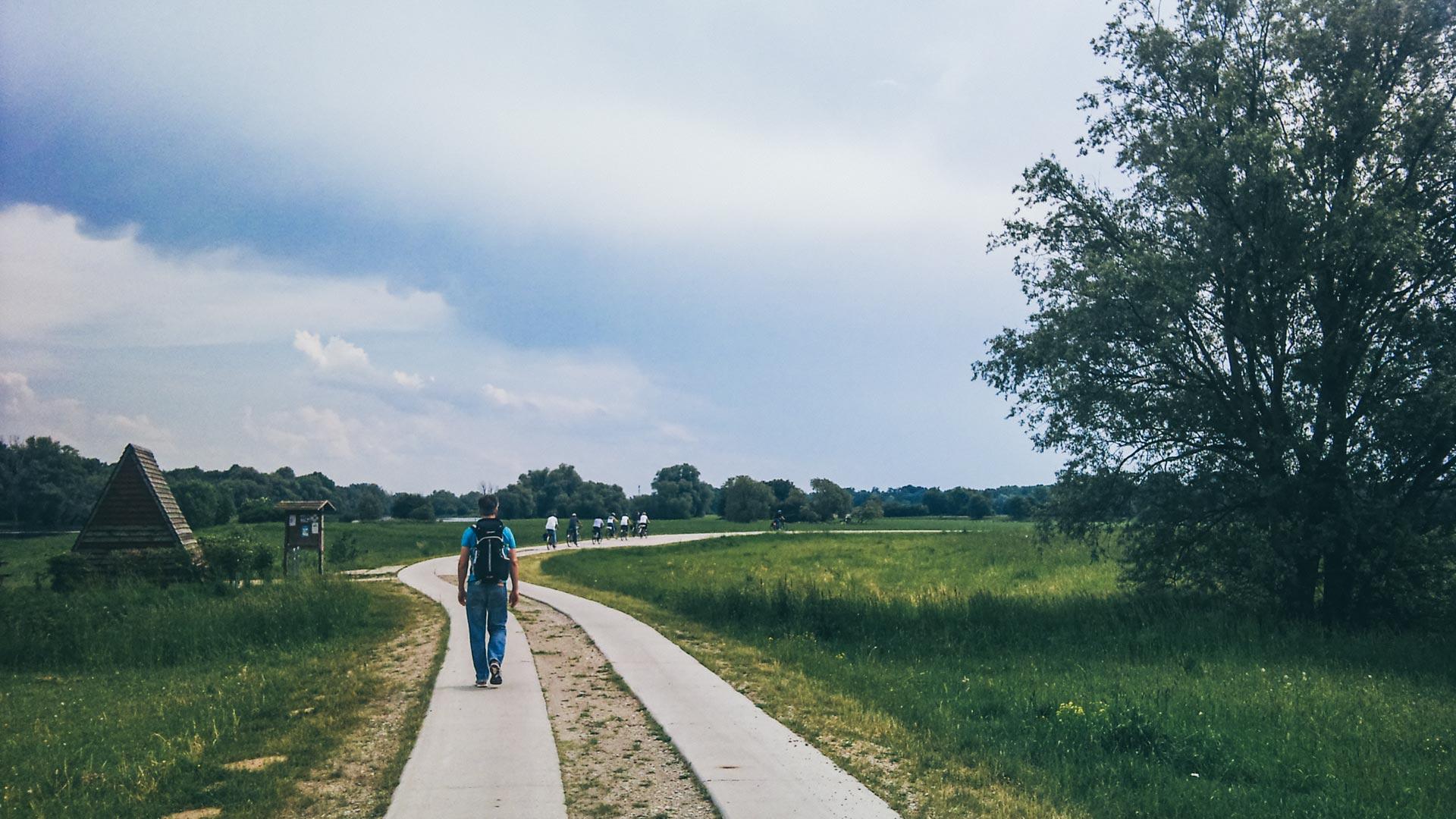 Immer entlang des Elberadwegs. Man kann sich zwar nicht verlaufen, aber so richtig gut tut das den Füßen auch nicht.