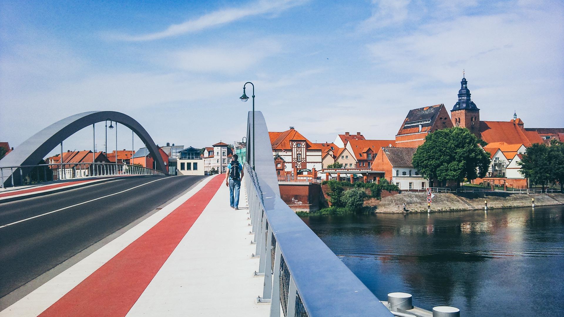 Havelberg an der Elbe. Von spätromanischer bis moderner Architektur war alles vorhanden. Auch ostdeutsche...