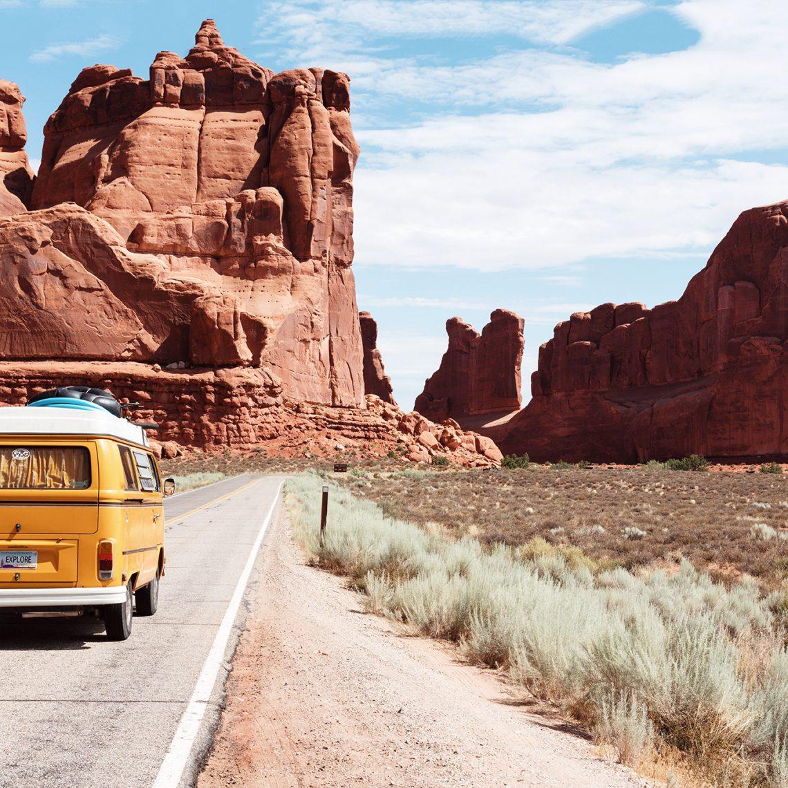Arches National Park Entrance Station, Moab, United States, © @dinoreichmuth, unsplash.com